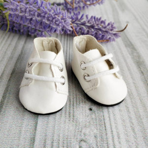 ботинки на шнурках 5см белые