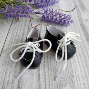 ботинки на шнурках 5см черные