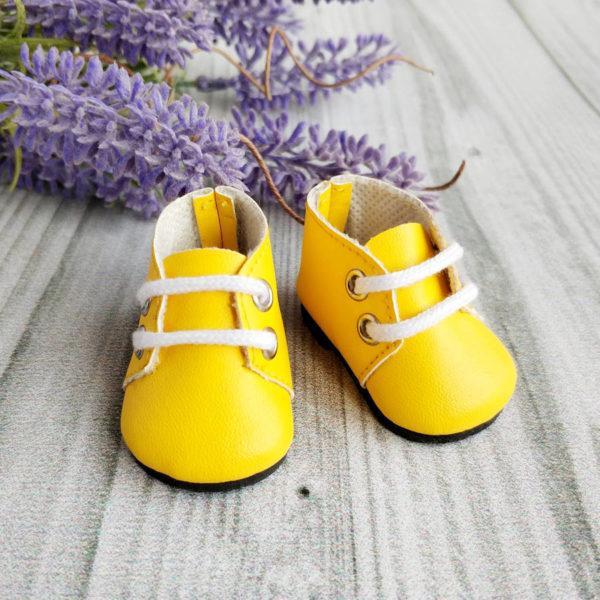 ботинки на шнурках 5см желтые