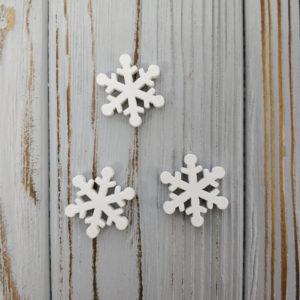 декор снежинка дерево белый