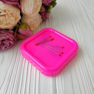 игольница магнитная ярко-розовая