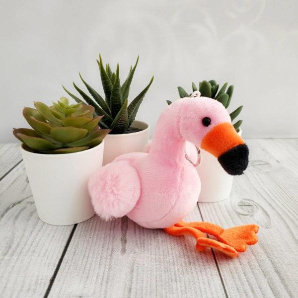 игрушка Фламинго с оранжевым клювом 10см