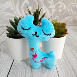 игрушка Кошка 10,5см голубой