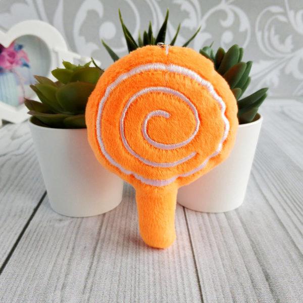 игрушка Леденец на палочке 10см оранжевый