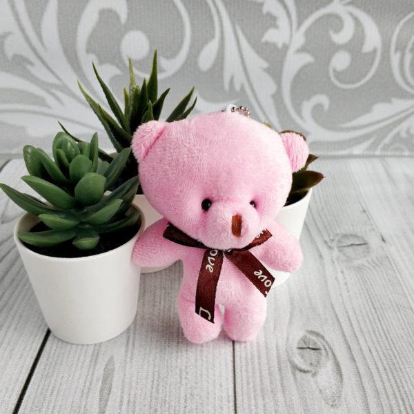 игрушка Мишка 11см розовый