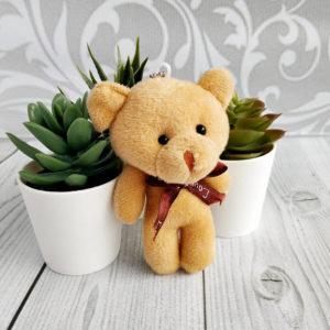 игрушка Мишка 11см светло-коричневый