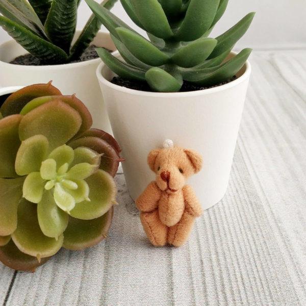 игрушка Мишка 4,5см светло-коричневый