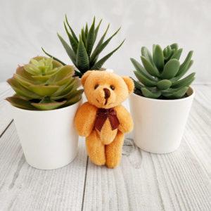 игрушка Мишка 8см светло-коричневый