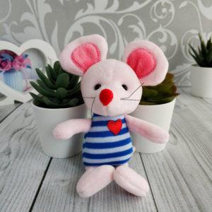 игрушка Мышка 17см розовый/синий