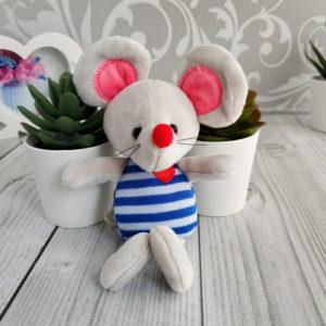 игрушка Мышка 17см серый/синий