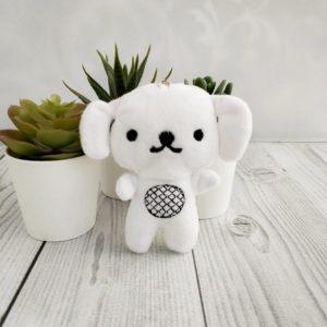 игрушка Собака 10см белый