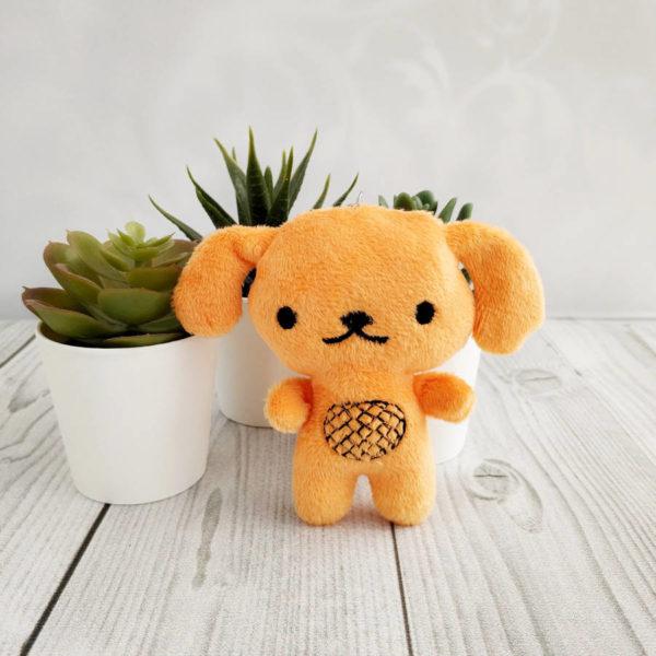 игрушка Собака 10см светло-коричневый