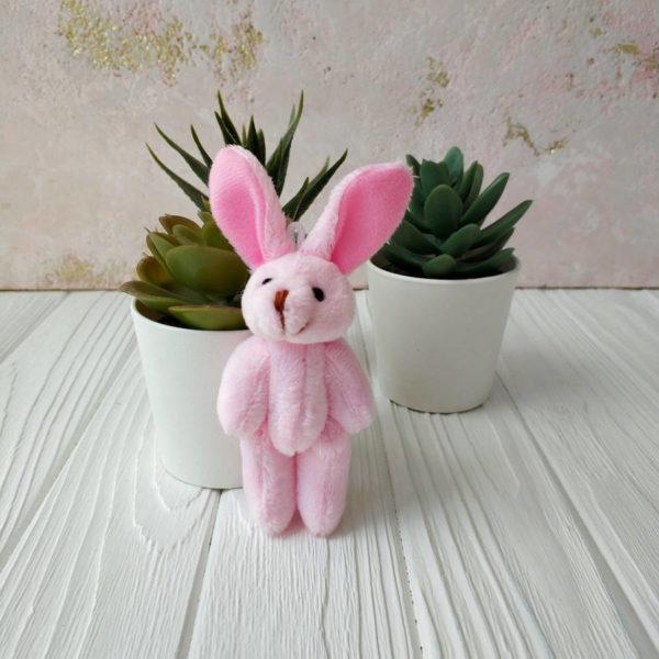 игрушка Зайка 8см розовый