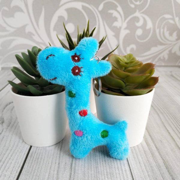 игрушка Жираф 10,5см голубой