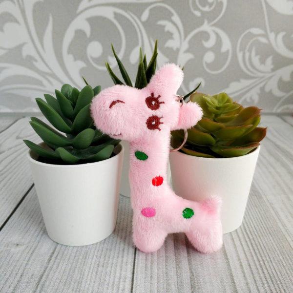 игрушка Жираф 10,5см розовый
