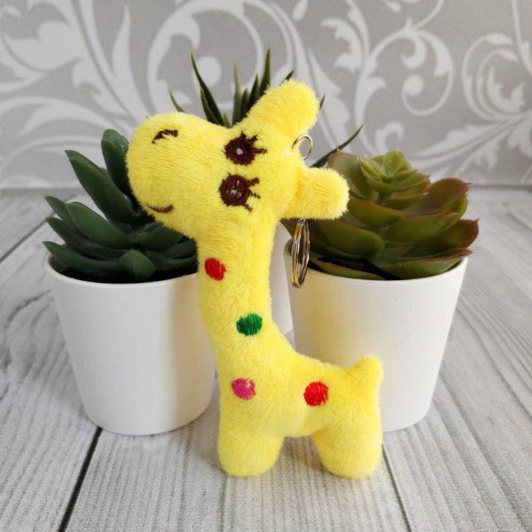 игрушка Жираф 10,5см желтый