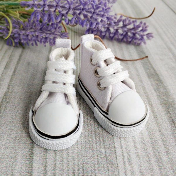 кеды на шнурках 5см белые