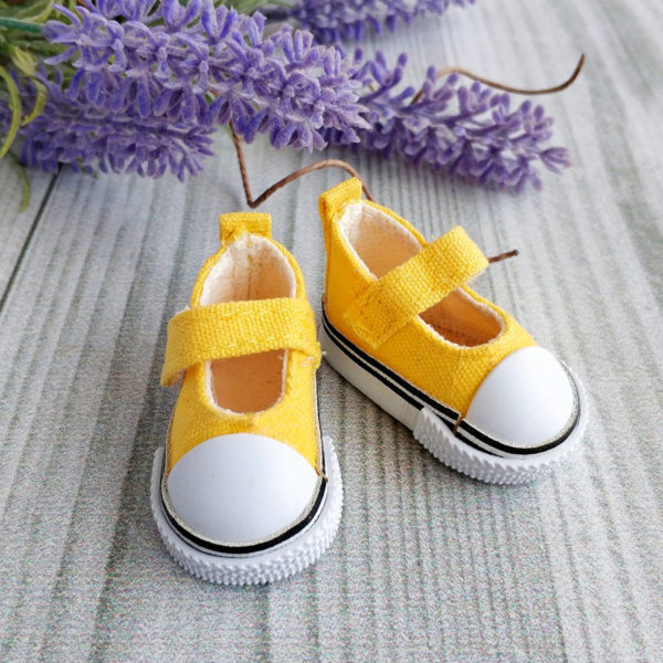 кеды-туфли на липучках 5см желтые