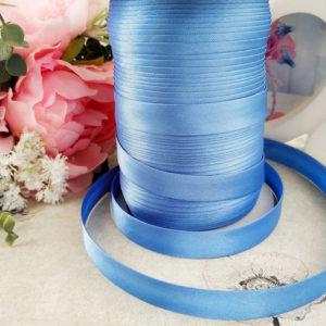косая бейка атласная 1,5см голубая