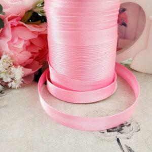 косая бейка атласная 1,5см розовая