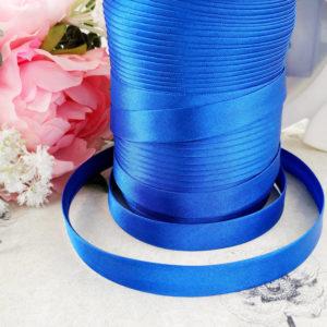 косая бейка атласная 1,5см синяя