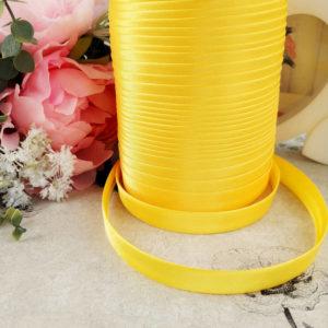 косая бейка атласная 1,5см желтая