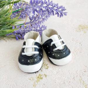 кроссовки на шнурках 5см черные