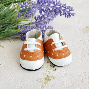 кроссовки на шнурках 5см коричневые