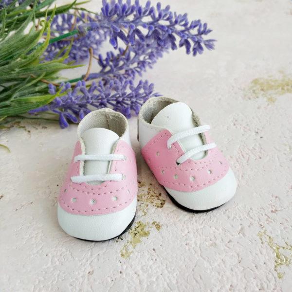 кроссовки на шнурках 5см розовые