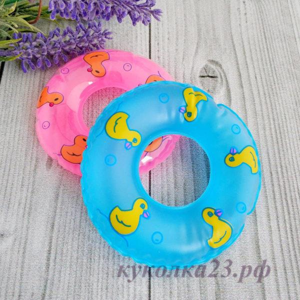 круг для плавания голубой
