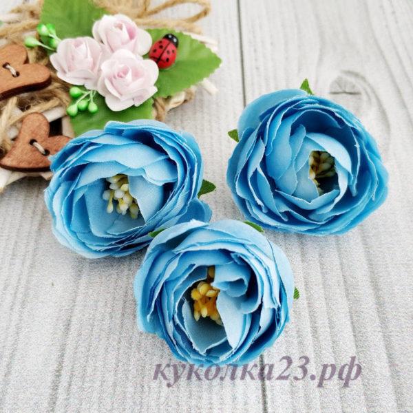 пион ткань голубой