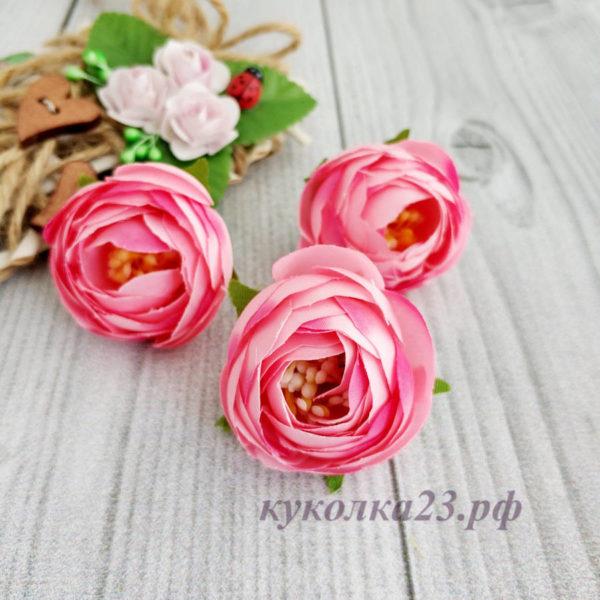 пион ткань розовый