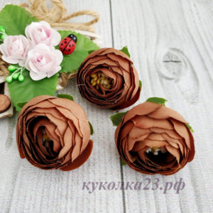пион ткань шоколад