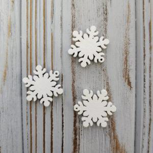 подвеска снежинка дерево белый