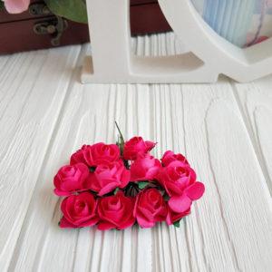 роза пучок 12шт малиновый2