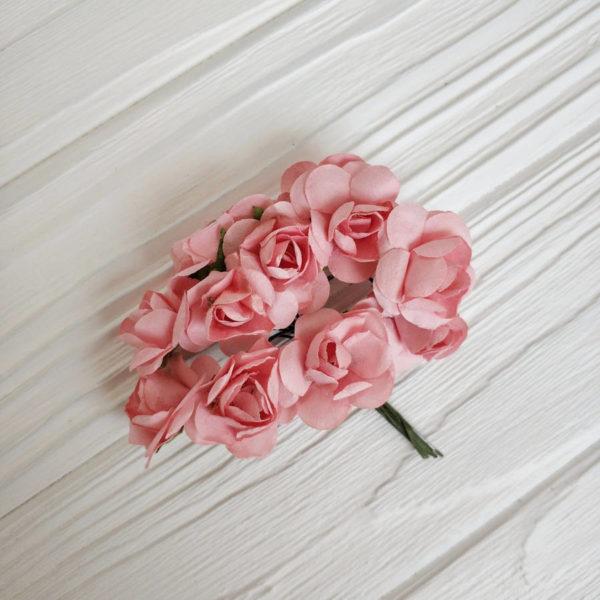 роза пучок 12шт персиковый
