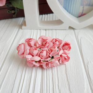 роза пучок 12шт персиковый2