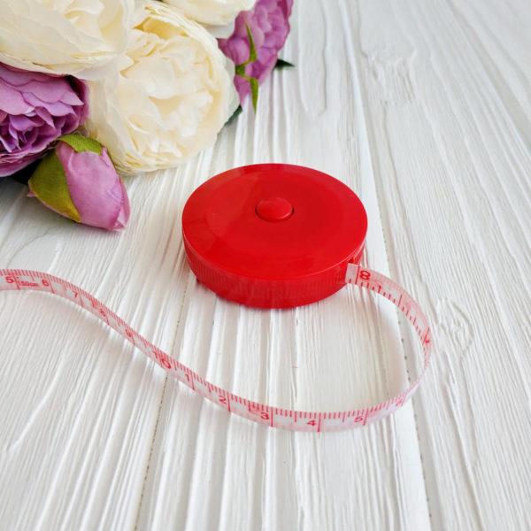 рулетка портновская 150см красная