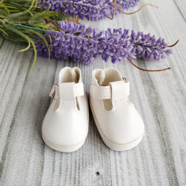 сандалии на застежке 5см белые