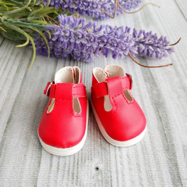сандалии на застежке 5см красные