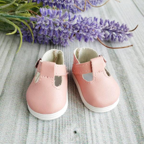 сандалии на застежке 5см пыльно-розовые