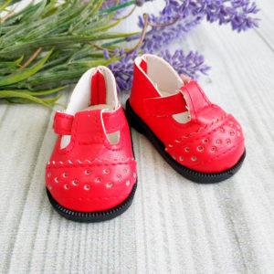сандалики 6,5см красные