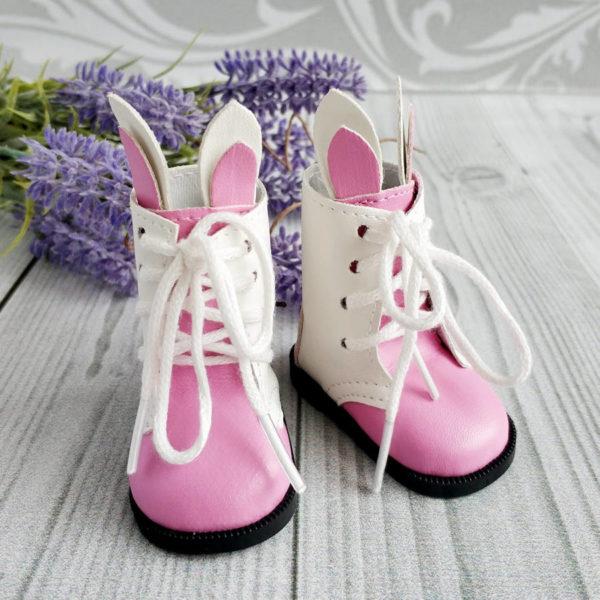 сапоги-зайки 6,5см ярко-розовые