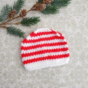 шапочка полосатая бело-красная