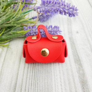 сумка малая на кнопке красная