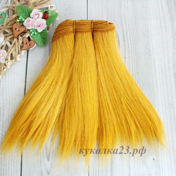 трессы натуральные коза прямые пшеничный золотой №144