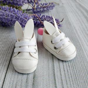 туфли-зайки 5см белые