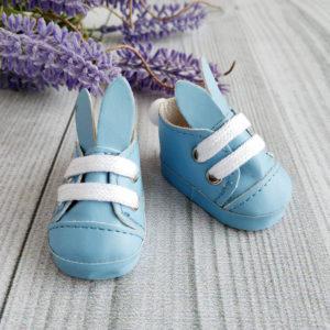 туфли-зайки 5см голубые