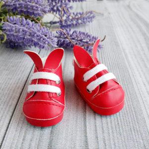 туфли-зайки 5см красные