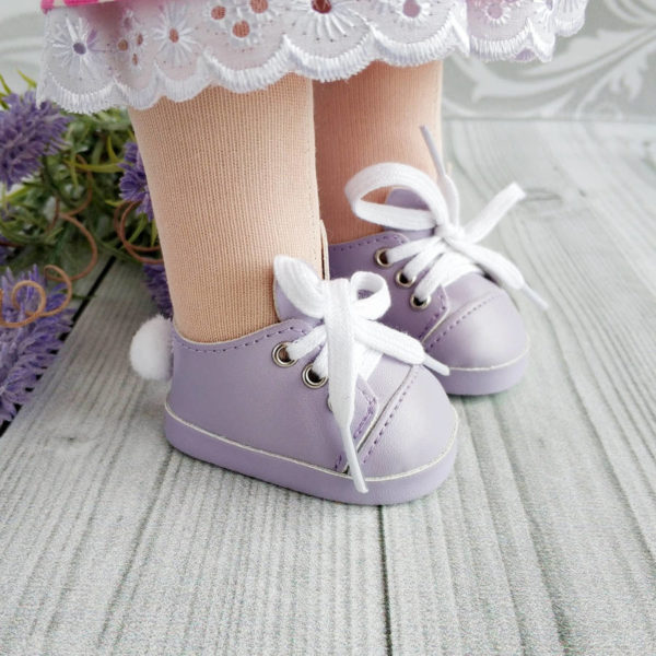 туфли-зайки 7см сиреневые демо